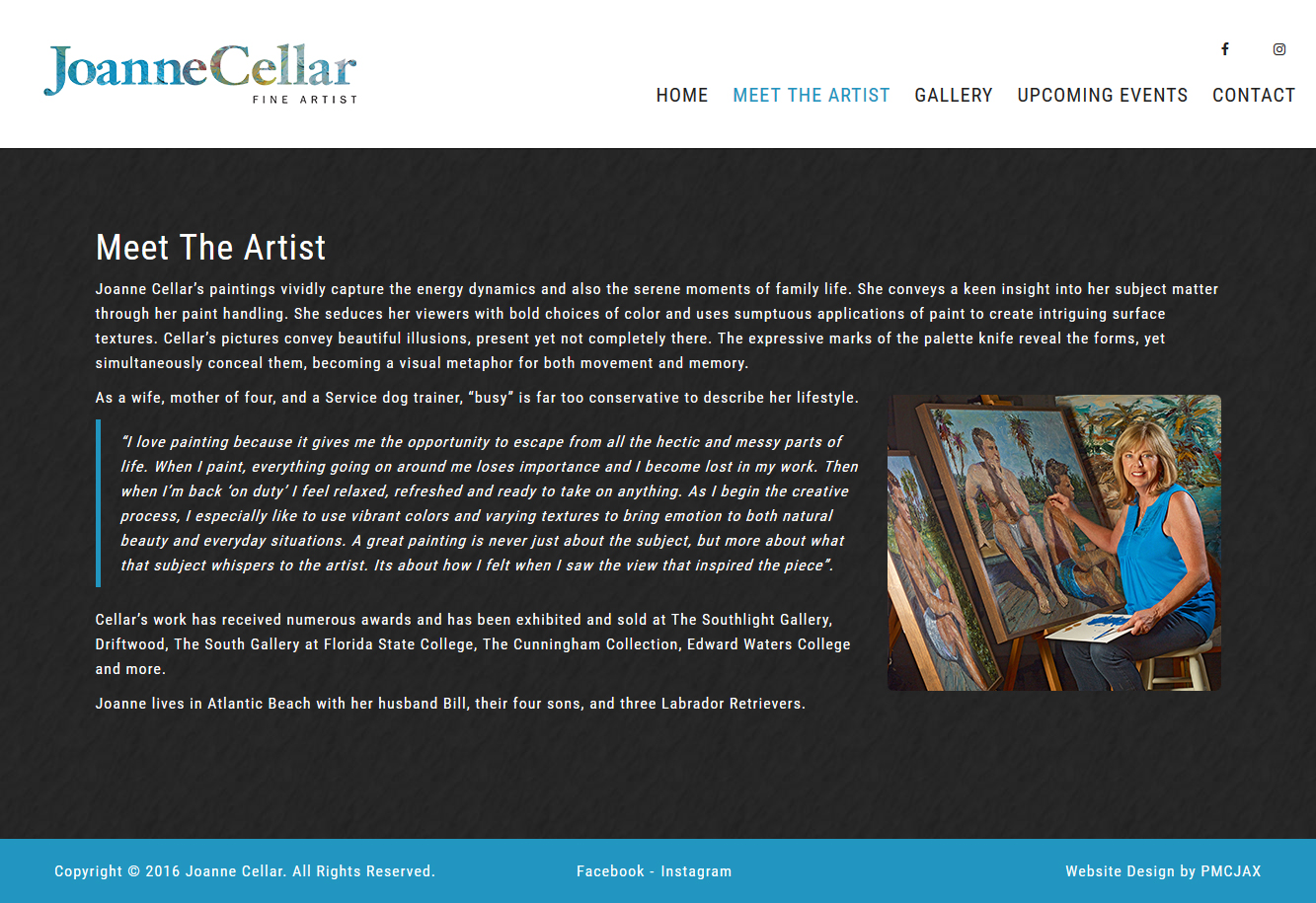 Responsive Artist Website Design