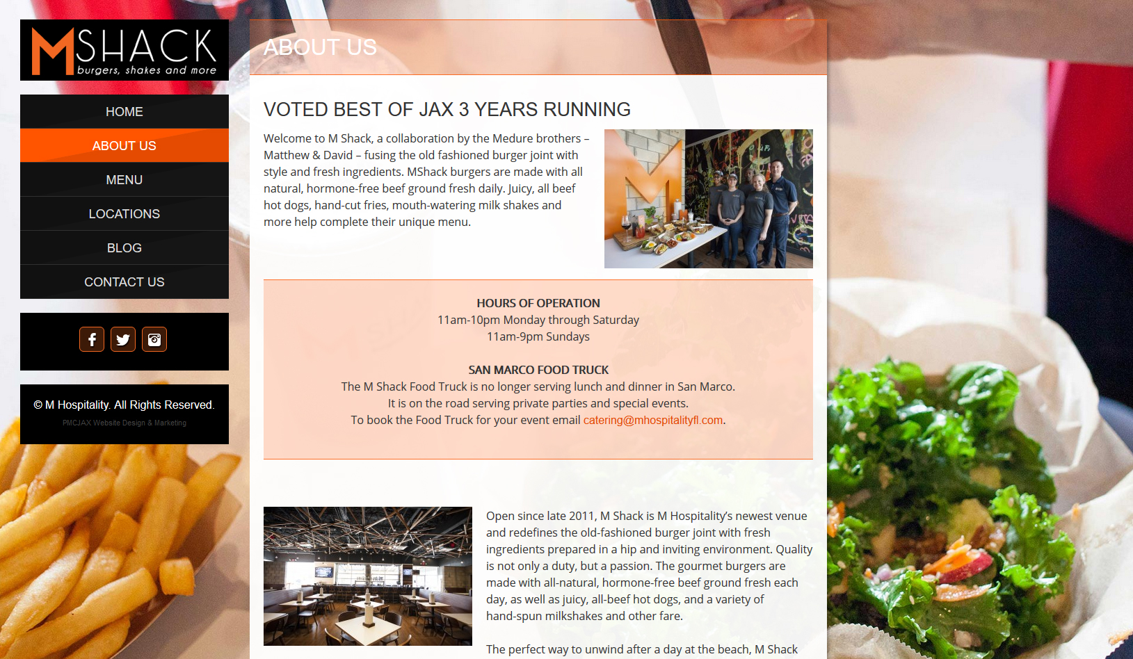 Responsive Restaurant Website Design