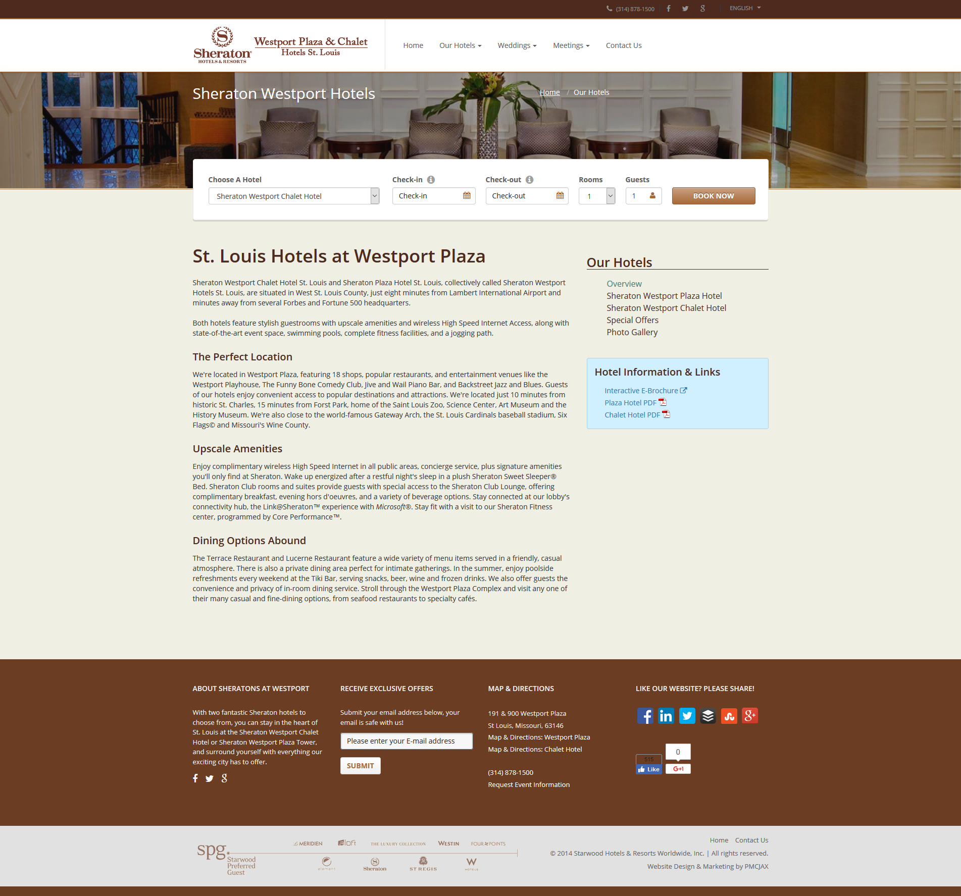 Custom Hotel Website Design - Hotel Overview