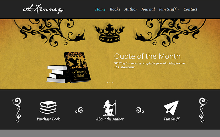 Author Website Design and Personal Blog Website Design