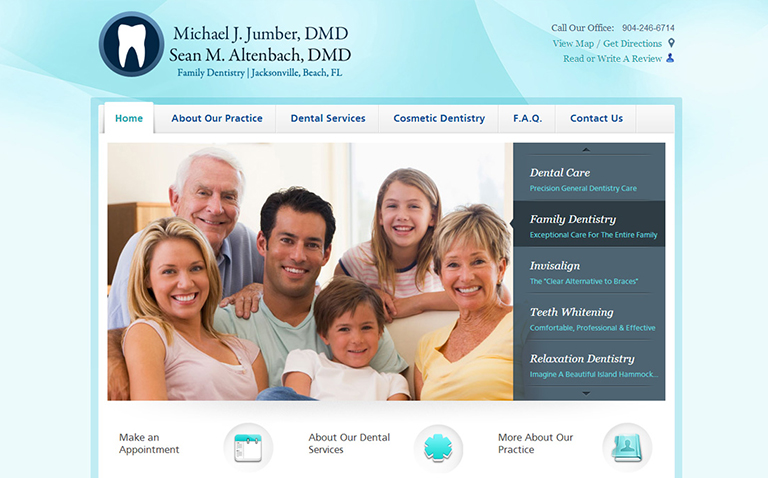 Medical Practice Website Design - Dentist Website Design