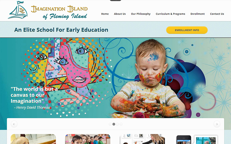 Educational Website Design for Schools & Daycares