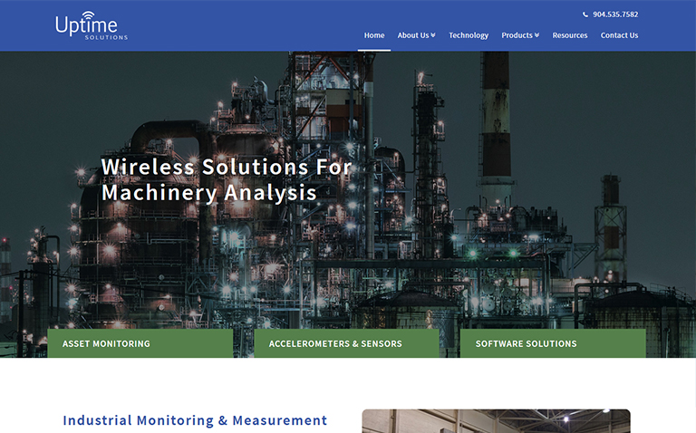 Industrial website design company in Jacksonville