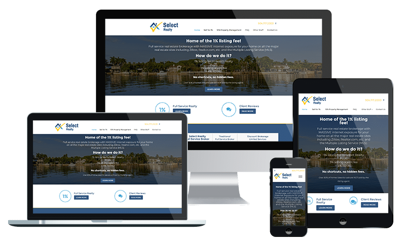 Jacksonville real estate website design