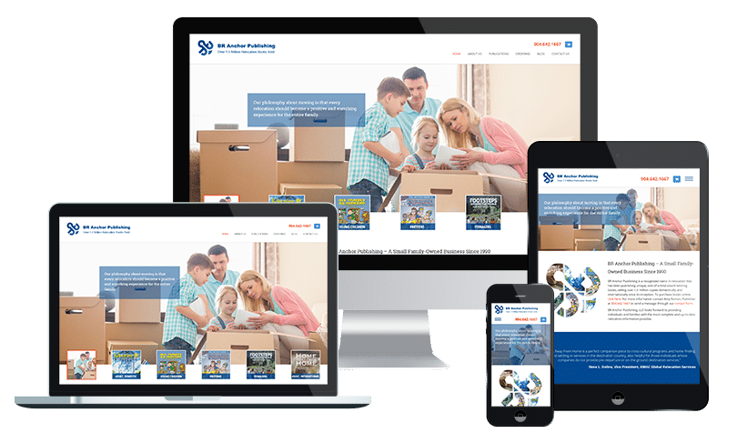 eCommerce website design company in Jacksonville providing BR Anchor Publishing a means to sell books online through WordPress and WooCommerce