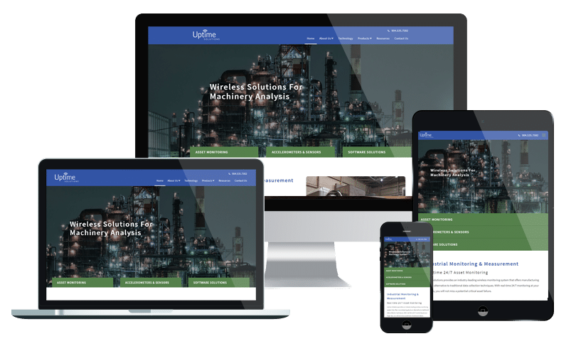 Industrial website design for Uptime Solutions in Jacksonville by PMCJAX