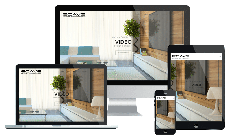 Web design for small business audio video design and installation in Jacksonville Beach FL by PMCJAX