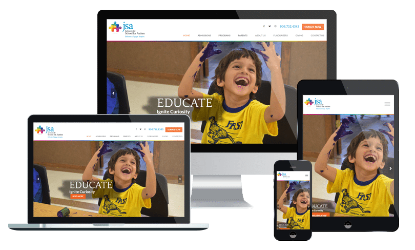 School website design -
