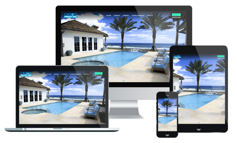 Small business web design for a custom pool builder in Jacksonville by PMCJAX