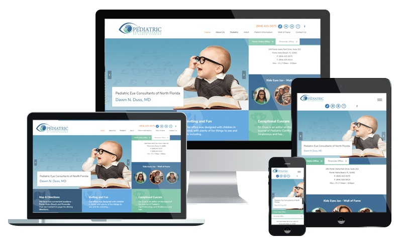 Medical Healthcare website design company in Jacksonville for ophthalmology practice startup