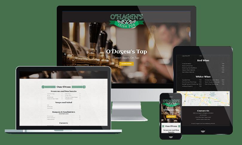 Restaurant web design company - Jacksonville Florida's PMCJAX Website Design and Internet Marketing