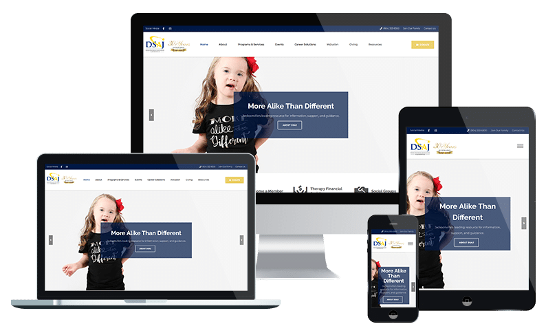 Jacksonville web design for nonprofit association in Jacksonville FL -DSAJ