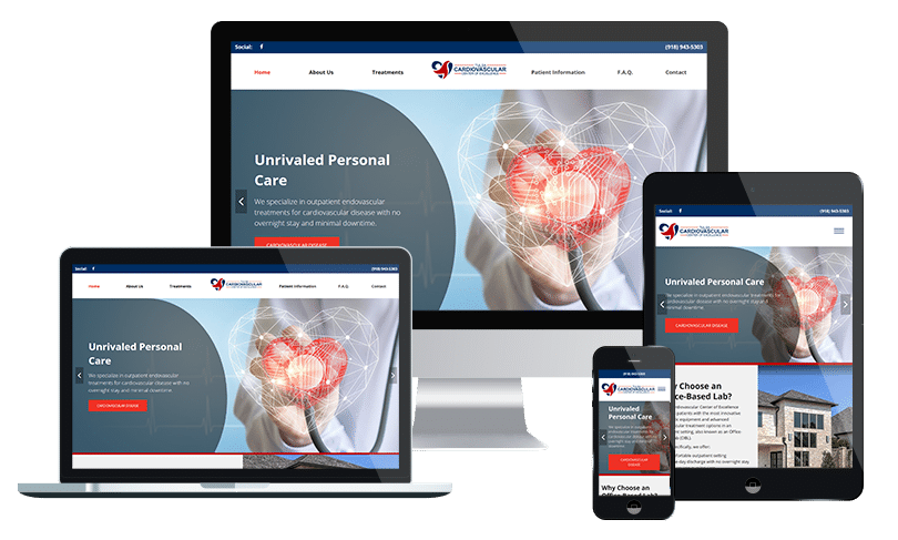 Medical website design and digital marketing by PMCJAX - OBL website design