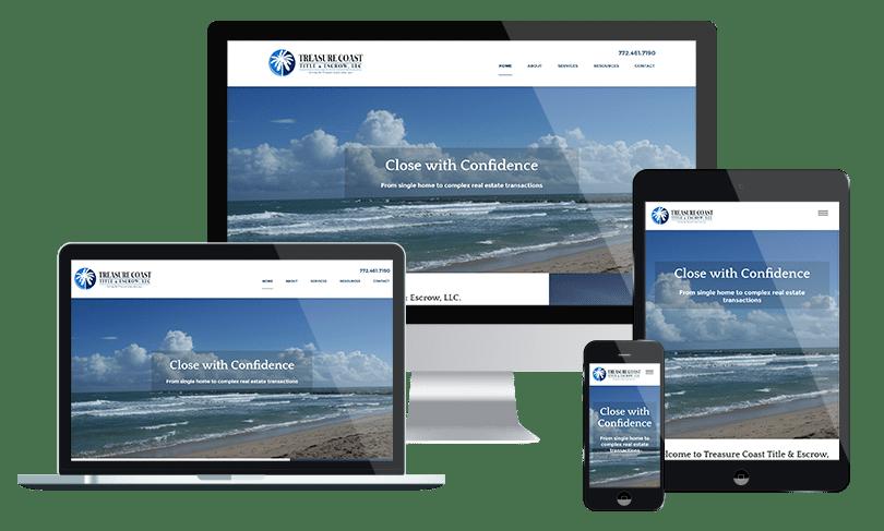 Real estate website design company in Jacksonville - Title company website design